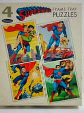 RARE 1966 WHITMAN set-4 frame tray puzzles-SUPERMAN-Unused! Excellent Condition!