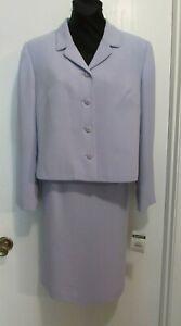 Lavender Polyester Pendleton 2-Pc. Suit (Jkt Sz: 14P; Skirt Sz: 16P) #256*