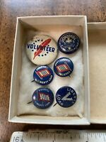 Vintage-WWI ERA 4th & 5th Liberty Loan, Volunteer & Methodist SS Pins/Buttons.
