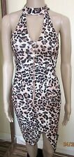 NWT STUNNING ANIMAL PRINT DRESS SIZE 6 PETITE NEW LOOK