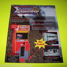Namco TIME CRISIS b/w DIRT DASH 1995 Original NOS Video Arcade Game Promo Flyer