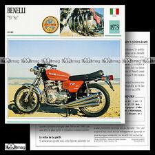 #002.01 BENELLI 750 SEI 1973 Fiche Moto Motorcycle Card