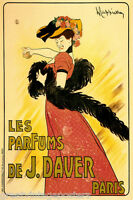 LES PARFUMS DE J DAVER PARIS WOMAN PERFUME FRENCH CAPPIELLO VINTAGE POSTER REPRO