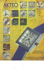 PUBLICITE ADVERTISING  1996  AKTEO montres design J.C MARESCHAL