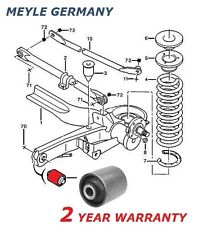 FOR DISPATCH SYNERGIE SCUDO ULYSSE 806 EXPERT REAR AXLE BEAM TRAILING ARM BUSH