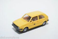 WIKING VW VOLKSWAGEN GOLF MKII MK2 DBP POST YELLOW NEAR MINT CONDITION