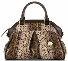 ❤️BRAHMIN LOUISE ROSE VIOLET CUSCO SATCHEL BROWN PYTHON EMB LEATHER ~ JAVA OPAL❤