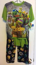 Boys-Teenage-Mutant-Ninja-Turtles-Size-10-PJ's-3-Pcs-Sleepwear-Pants-Top-Shorts