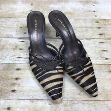 Antonio Melani Women Animal Print Mules Pumps Size 7.5M Heels Glove Fit Slip On