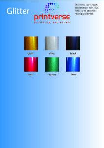 Glitter Heat Transfer Vinyl 50cm x 5m