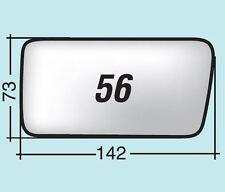 Vetro specchio retrovisore Fiat Cinquecento sporting '91 DX cromato curvo 56D