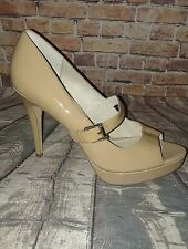 Michael Kors MK nude peep-toe platform Mary Jane high heels size 10
