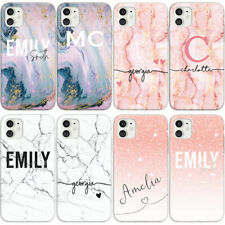 INITIALS PHONE CASE PERSONALISED MARBLE HARD COVER FOR SAMSUNG S7 S8 S8+ S9 S9