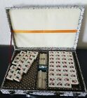 Vintage CHINESE MAJONG 124 Tiles in Carrying Case - Missing some tiles AS IS