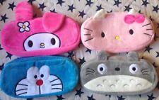 Lotto cancelleria 4 astucci pelosi Totoro Doraemon Hello Kitty My Melody