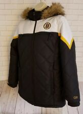 Women's NHL BOSTON BRUINS G-III Winter Parka Hooded Zip Jacket Size Large