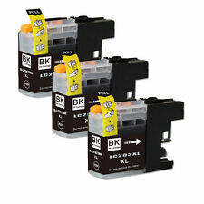 3 PK Black Ink Cartridge for Brother LC203 LC201 MFC J460DW J480DW J485DW J680DW
