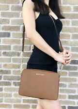 Michael Kors Jet Set East West Large Crossbody Luggage Brown