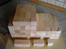 150 Stück große Holzbausteine aus Erlenholz in 6 Abmessungen