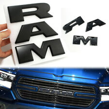 3D RAM Letters 2019 Ram 1500 DT OEM Grille Emblem Matte Black ABS Nameplate