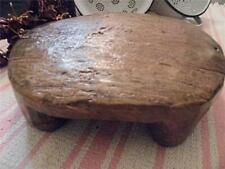 More details for southern indian antique vintage hand carved solid teak wood chapati breadboard
