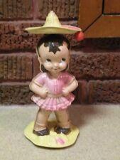 Vintage Plastic Wind-Up Toy Doll - Somebraro Spins