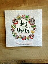 """""""JOY To The WORLD"""" CHRISTMAS  COLORING BOOK 9-7/8""""x 9-7/8""""Acid-Free paper *NEW*"""