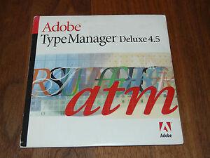 Adobe TypeManager Deluxe 4.5 MAC deutsche kommerzielle Vollversion