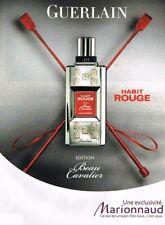 E- Publicité Advertising 2009 Eau de Parfum Habit Rouge de Guerlain
