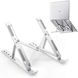 Aluminum Adjustable Laptop iPad Tablet Stand Riser Bracket Foldable Desk Tray