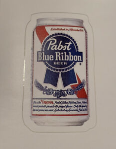 """PBR Pabst Blue Ribbon Brew Sticker Classic Retro Beer Can 3"""" x 1.8"""""""