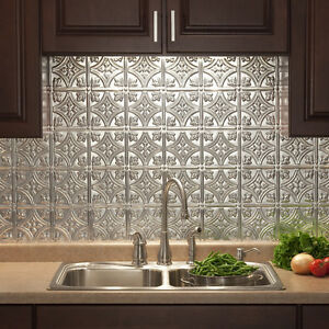 Fasade 18in x 24in Traditional Style/Pattern #1 Backsplash Panel (5 Pack)
