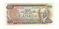 1975 Canadian $100 Note BC-52a, Law/Bou SN# JC 3212936