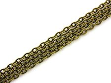 1 Metre Antique Bronze Colour Chain 4 x 3.5mm Links Craft Beading Jewellery M113