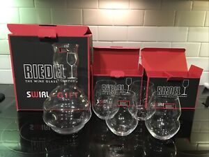 riedel wine glasses Swirl + Gift Swirl Decanter