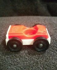 Vintage Fisher Price Little People White and Red/Orange Car Jeep
