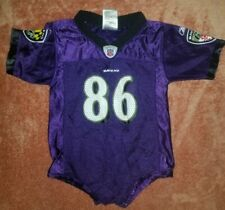 Official NFL Ravens Short Sleeve Jersey One Piece Outfit 18 Months #86 Heap