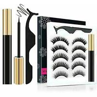 5Pairs Reusable Magnetic Eyelashes Eyeliner Kit Eyeliner Magnetic Upgraded E1B4