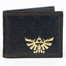 Zelda Logo Black Bi-Fold Wallet NEW Bioworld IN STOCK Tri-Force