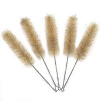 5Pc 35mm Horse Hair Wire Tube Brushes Hose Brushes Cleaning Brush Set