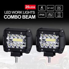 """2X 4"""" LED Arbeitsscheinwerfer 4WD Offroad Scheinwerfer Flutlicht Light Bar IP68"""