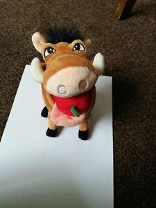 "Disney The Lion King - TOOTIN' PUMBAA PUMBA - Hog Plush Stuffed Toy 8"""