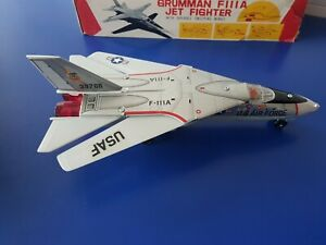 "VINTAGE ""T.N."" JAPAN GRUMMAN F111A JET FIGTHER BATTERY OPERATED TOY  NIB"