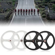 700c Fixed Gear 3-Spoke Mag Wheels Rims Set of Front & Rear Fixie Bike FAST SHIP