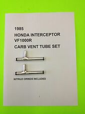 1985 HONDA INTERCEPTOR VF 1000 R CNC SET OF CARB VENT FUEL GAS TUBES