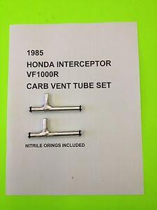 1985 HONDA INTERCEPTOR VF 1000 R CNC SET OF CARB VENT FUEL GAS TUBES