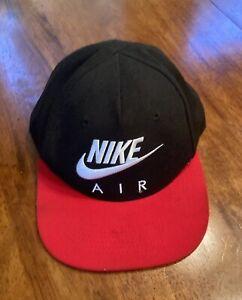 VINTAGE NIKE AIR SNAPBACK HAT CAP  RED SWOOSH