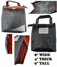 lot of two (2) INSULATED LUNCH BAGS Cooler Bag with Mesh Drink Pouch Zipper Top
