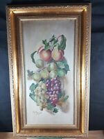 B. MORGAN FRUITS STILL LIFE ABSOLUTELY LOVELY OIL PAINTING DATED 1919