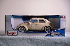 MAISTO Volkswagen Kafer - Beetle 1955 1:18 Diecast Model Car BNIB